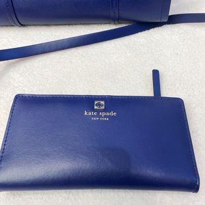Kate Spade wallet royal blue and pink